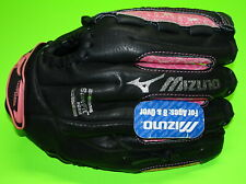 New = Mizuno Gpp 1155 = Youth Finch Glove = Left Lht = 11.5 Inches Black Pink