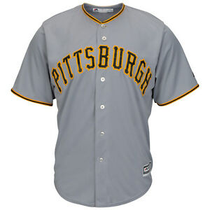 MLB Baseball Jersey Pittsburgh Pirates Grey Cool Base Majestic Jersey