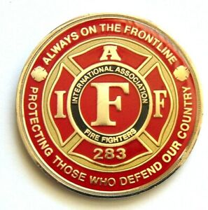 International Association Fire Fighters 283 Challenge Coin Fort Lewis