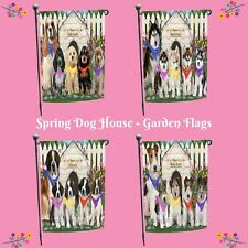 Spring Dog House Garden flag, Dogs, Cats, Pet Photo Lover Garden Decor Gifts