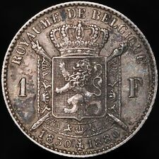 1880 | Belgium Leopold II 1 Franc | Silver | Coins | KM Coins