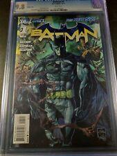 2011 DC Batman New 52 #1 CGC 9.8 Variant Cover