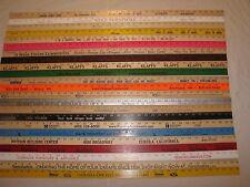 23 Yardstick Wood Wooden Ruler Lot Advertising Sign Color Art Craft Hobby