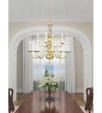 "Livex 5012-02 Williamsburg 12 Light 26"" Polished Brass Chandelier BRAND **NEW**"
