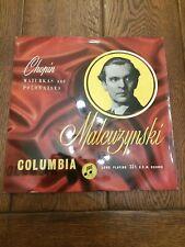 Malcuzynski - Chopin Mazurkas And Polonaises .COLUMBIA 33cx 1138, 1st U.K , NM