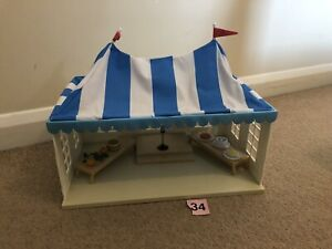 SYLVANIAN FAMILIES Marquee UK 2008 Village Show Fete / Wedding Calico Critters