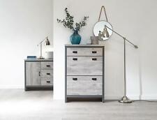 12 Pair Grey Two-Tone Shoe Cabinet Cupboard Footwear Shelf Organizer and Drawer