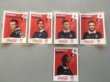 panini EURO 2016 STICKERS lot de 5 COCA COLA