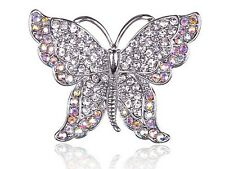 Colorful Clear Crystal Rhinestone Butterfly Insect Jewelry Pin Brooch Wedding