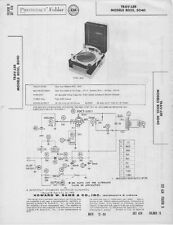 1958 TRAV-LER 8035 8040 RECORD PLAYER CHANGER SERVICE MANUAL PHOTOFACT SCHEMATIC