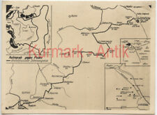Q751 Foto Wehrmacht Polen Feldzug Landkarte map Marschweg Modlin Warschau