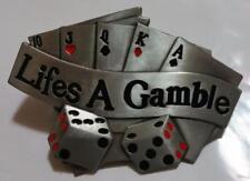 Gürtelschnalle Lifes a Gamble Casino Poker Glück Belt Buckle NEU dt.Händler