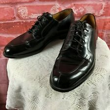 Vintage Cole Haan Men's 9 D Black Split Toe Dress Oxfords