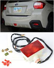 For 11-14 WRX STi 13-Up XV Crosstek CRYSTAL RED Rear Fog Light Tail Brake Lamps