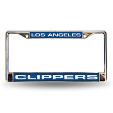 Los Angeles LA Clippers NBA Chrome Metal Laser Cut License Plate Frame