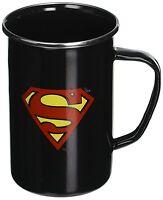 SUPERMAN LOGO - ENAMELWARE MUG - BRAND NEW 20 OUNCES - DC COMICS 07576
