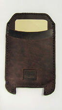 Handmade Samsung S6, S7 Pouch Case Genuine Rustic Real Leather Dark RRP $55