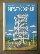 Vintage New Yorker Magazine September 4 1965 - Ilonka Karasz cover art