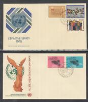 UN UNO Vereinte Nationen United Nations New York Jahrgang 1978 komplett auf FDC