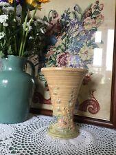 Lovely 1930s Art Deco Springtime Flower Vase-Price Bros #5466