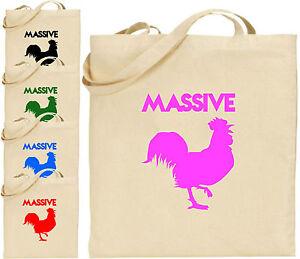 Massive Cock Large Cotton Tote Shopping Bag Present Xmas Cool Christmas Animals