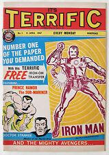 IT'S TERRIFIC / No.1 / 15th APRIL 1967 / PLUS IRON ON TRANSFER / MARVEL UK