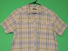 Cabela's Womens Size XL Extra Large Plaid Pocket Short Slv Button Shirt