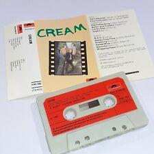 CREAM DEBUT 1966 CASSETTE TAPE ALBUM ERIC CLAPTON 60s ROCK RED LABELS POLYDOR