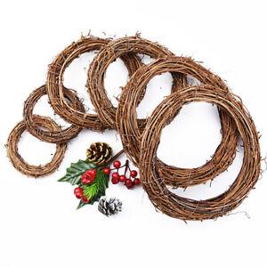 Wreath Rattan Home DIY Wicker Wedding Artificial Vine Ring Garland Party Deco