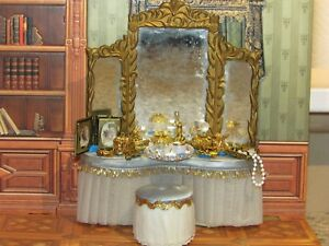 "DOLLHOUSE MINIATURE PERFUME COLLECTION -""GOLD""-OOAK"