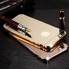 Luxury Aluminum Metal Mirror Frame Case +PC Hard Back Cover For iPhone 5C