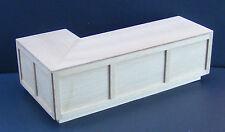 1:12 grandi R ANGOLARE FINITURA NATURALE bar counter DOLLS HOUSE miniatura Accessorio