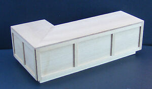 1:12 Scale Large Right Angled Natural Finish Wood Bar Counter Tumdee Dolls House