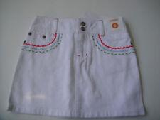 Gymboree NWT BURST OF SPRING Denim Jean Skirt Skort White Embroidered 5 5T