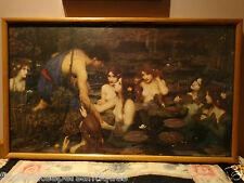 HYLAS AND THE NYMPHS 1986  FRAMED PRINT JOHN WILLIAM WATERHOUSE 1849 - 1917