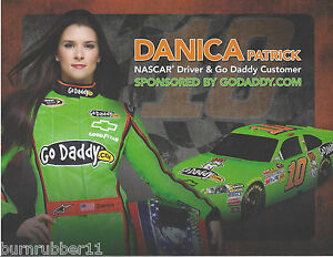 "2012 DANICA PATRICK ""GO DADDY"" #10 NASCAR SPRINT CUP SERIES POSTCARD"