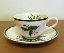 Cutherbertson CHRISTMAS TREE PATTERN Tea Cup and Saucer - Made in England