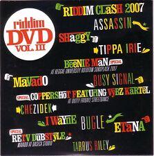 RIDDIM DVD Vol. 3 Mavado Tarrus Riley Chezidek Etana Dancehall Roots Culture