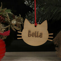 Personalised Christmas Tree Pet Cat Kitten Decoration Xmas Ornament, Bauble Gift