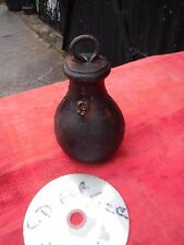 VINTAGE  CAST  IRON  BELL SHAPED  WEIGHT. 9.   IDEAL DOOR STOP.  FREE  DELIVERY.
