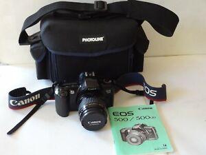 appareil photo reflex argentique CANON EOS 500 ZOOM canon 35-80 + sac + manuelFR