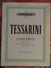 partition concerto pour violon et piano G-dur opus 1 N° 3 de Tessarini