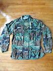 ATLANCO COMBAT COAT MILITARY, CAMO, HUNTING, ARMY MADE IN USA SIZE L