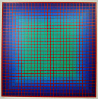 Conferring Blue, 1978 Limited Edition Silkscreen, Julian Stanczak