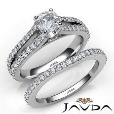 1.96ctw Split Shank Prong Bridal Cushion Diamond Engagement Ring GIA I-VVS2 Gold