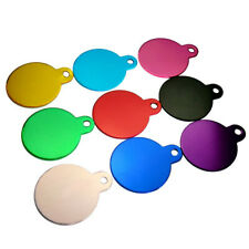 2020 New Pet Dog Cat Tag Neck Pendant Round Colorful Aluminum Engraving Name Id
