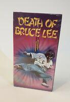 NEW Star Classics VHS Death of Bruce Lee 1987 RAREvMartial Arts Ron Vanclief HTF