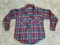 Nice St Johns Bay Heavyweight Flannel Shirt Mens Med Button Front L/S Plaid