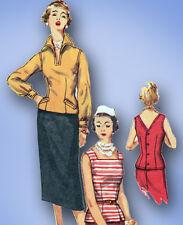 1950s Vintage Simplicity Sewing Pattern 1053 Uncut Misses Suit Separates Size 14