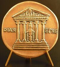 Medaille bronze frappe moderne CLAUDIUS AR Cistophoric Tetradrachme restrike